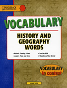 History and Geography Words
