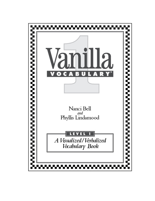 Vanilla Vocabulary: A Visualized/Verbalized Vocabulary Program